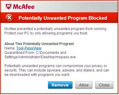 Potentially Unwanted Program Virus