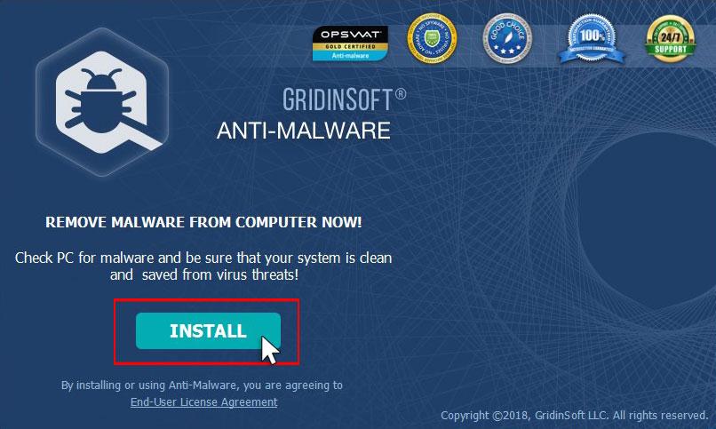 GridinSoft Anti-Malware Install
