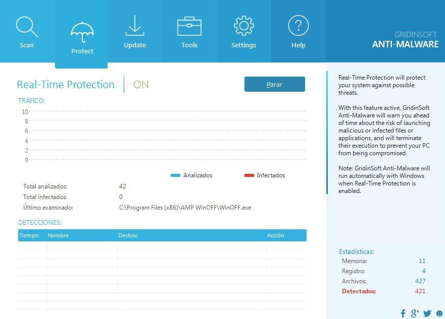 Screenshot of Gridinsoft Anti-Malware Software