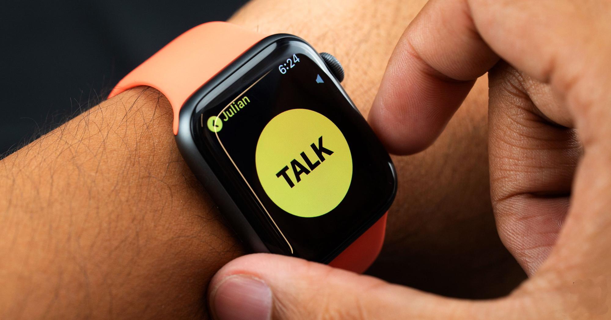 Walkie Talkie app on the Apple Watch