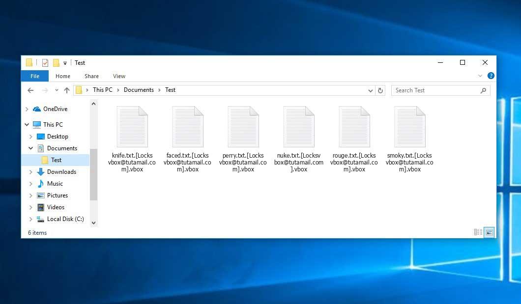 Vbox Ransomware - encrypt files with .[Locksvbox@tutamail.com].vbox extension