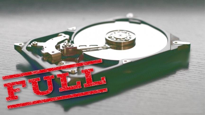 Hacker spent disk space
