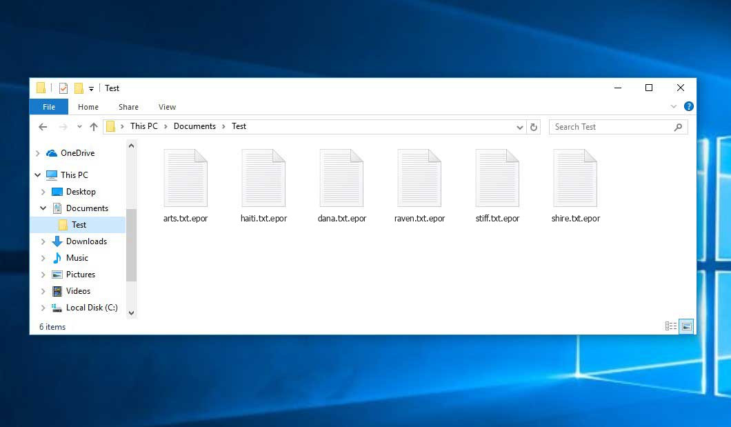Epor Ransomware - encrypt files with .epor extension